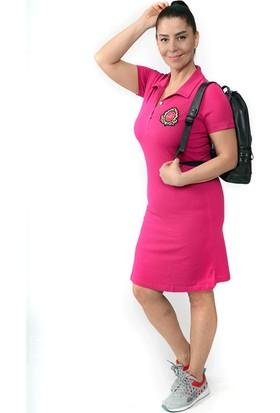Tepa Kadın Fuşya Armalı Elbise