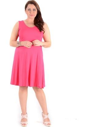 Tepa Kadın Fuşya Kolsuz Elbise