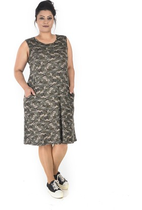 Tepa Kadın Kamuflaj College Elbise