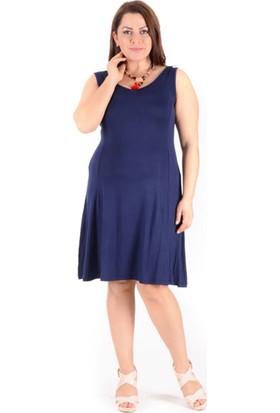 Tepa Kadın Lacivert Kolsuz Elbise