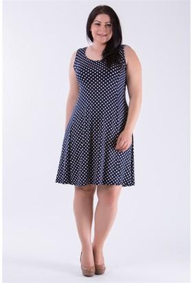 Tepa Kadın Lacivert Mini Puan Elbise