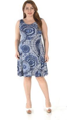 Tepa Kadın Mavi Dalga Elbise