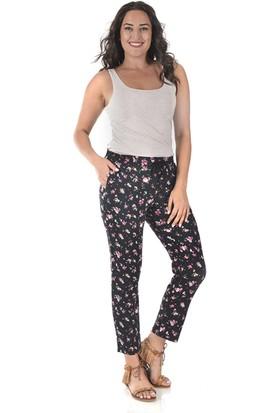 Tepa Kadın Siyah Güllü Şalvar Pantolon