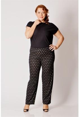 Tepa Kadın Siyah Penye Büyük Beden Pantolon