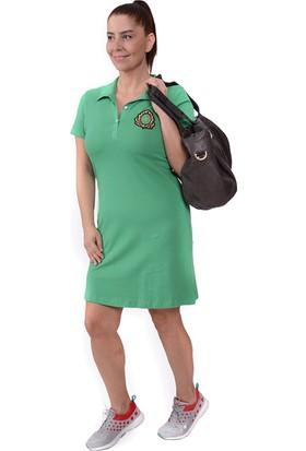 Tepa Kadın Yeşil Armalı Elbise