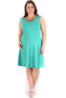 Tepa Kadın Yeşil Kolsuz Elbise