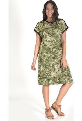 Tepa Kadın Yeşil Queen Elbise