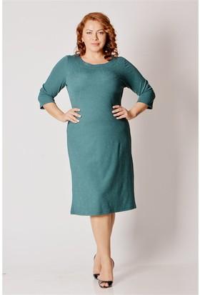 Tepa Kadın Yeşil Truvakar Elbise
