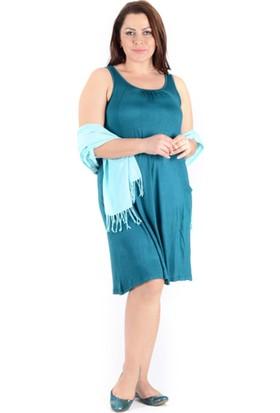 Tepa Kadın Zümrüt Cepli Elbise