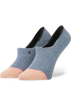 Stance Blue Plain Jane Kadın Çorap
