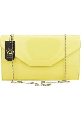 Voo Sarı Cloutch El Çantası