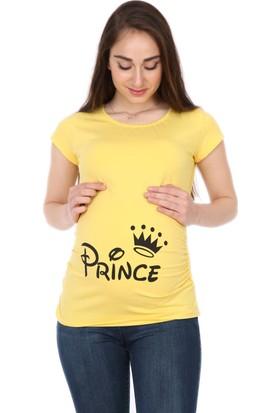 Gör&Sin Prince Baskılı Hamile T-Shirt
