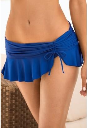 Angelsin Saks Mavi Etekli Bikini
