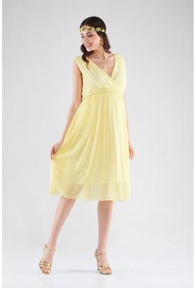Lyn Devon Valentin Elbise Sarı