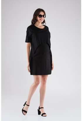 Lyn Devon Gisele Elbise Siyah