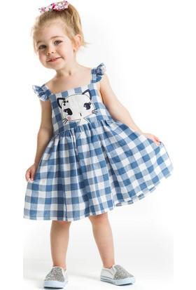 Denokids Baby Yıldız Kedi Ekose Elbise