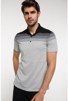 Defacto Çizgili Polo T-shirt