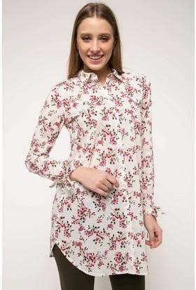 Defacto Floral Desenli Gömlek Tunik