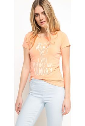 Defacto Slim Fit Baskılı T-shirt