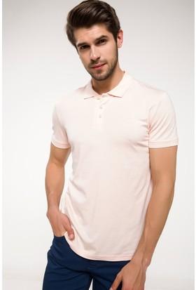 Defacto Slim Fit Kolları Triko Bant Detaylı Polo T-shirt
