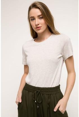 Defacto Sıfır Yaka Basic T-shirt