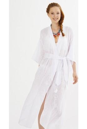 Just Like You 047 Beyaz Kimono