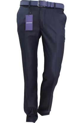 Arvedo Erkek Pantolon Lacivert Puanlı Slim Fit 83124