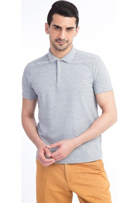 Kiğılı Polo Yaka Düz Slim Fit T-Shirt