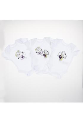 Soobe Erkek Bebek Üçlü Badi Beyaz