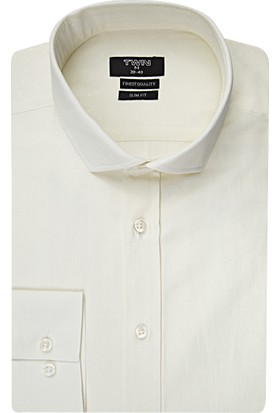 Twn Beyaz Erkek Gömlek Slim Fit