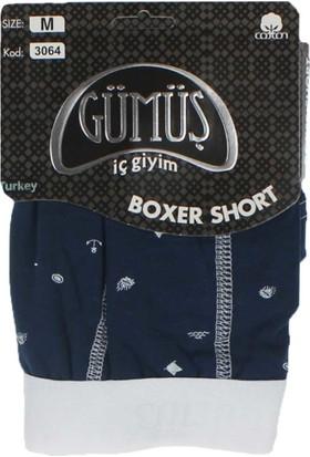 ModaKids Gümüş İç Giyim Erkek Likralı Desenli Boxer 040-3064-012