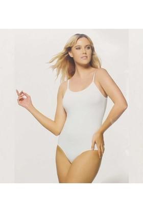 ModaKids Gümüş İç Giyim Kadın Beyaz İp Askılı Çıtçıtlı Bady 040-4025-027