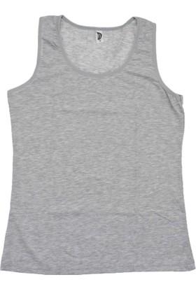 ModaKids Gümüş İç Giyim Kadın Geniş Askılı Gri Atlet 040-4066-011