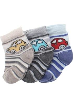 ModaKids Erkek Bebek Yeni Doğan 3 lü Çorap 060-003-032