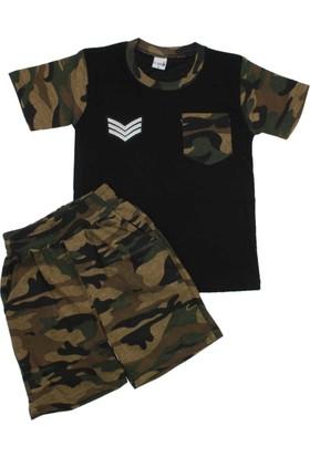 ModaKids Erkek Çocuk Kamuflaj Şortlu Takım 019-5052-038
