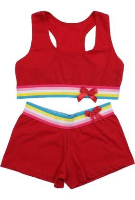 ModaKids Kadın Kırmızı Büstiyer Takım 040-4037-002