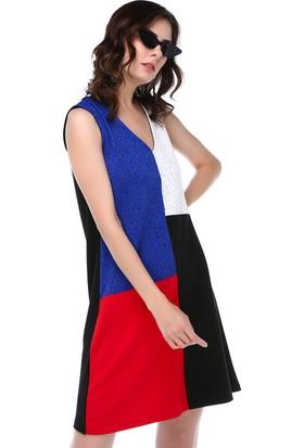 Twenty3 Multi V Yaka Bloklu Elbise Alc-018-023