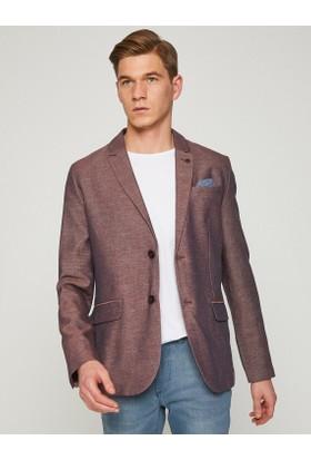 Koton Erkek Düğme Detaylı Blazer Ceket
