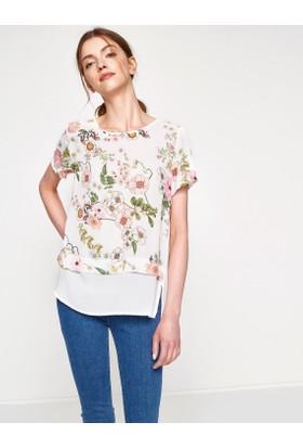 Koton Kadın Çiçekli T-Shirt