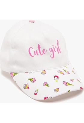 Koton Kız Çocuk Desenli Şapka