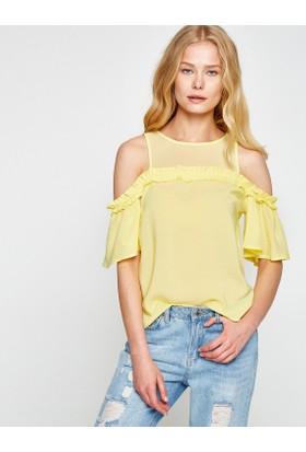 Koton Kadın Fırfır Detaylı Gömlek