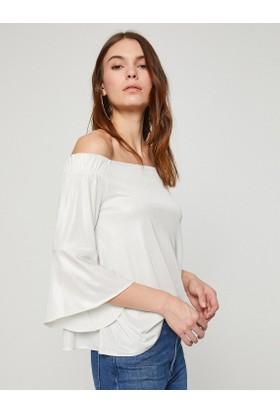 Koton Kadın Omzu Açık Detaylı Bluz