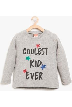 Koton Erkek Çocuk İşlemeli Sweatshirt
