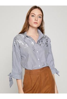 Koton Kadın Klasik Yaka Gömlek
