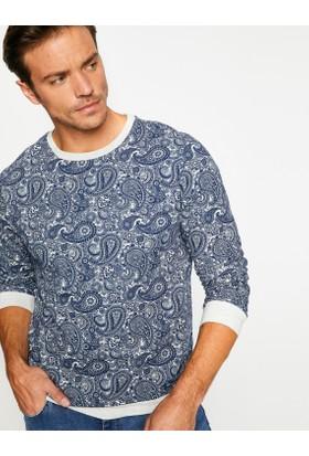 Koton Erkek Desenli Sweatshirt