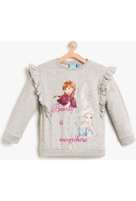 Koton Kız Çocuk Frozen Baskılı Sweatshirt