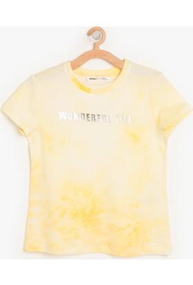 Koton Kız Çocuk Sim Detaylı T-Shirt