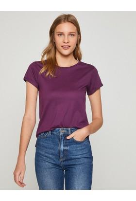 Koton Kadın Bisiklet Yaka T-Shirt