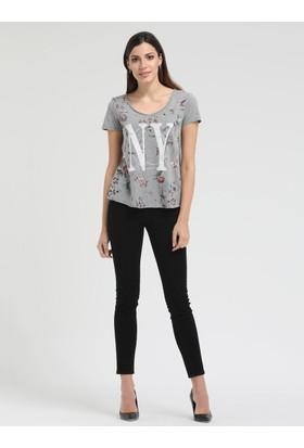 Loft 2010120 Bayan T-Shirt Sleeve