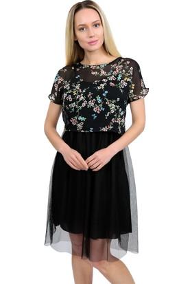 Lafaba Tül Siyah Elbise